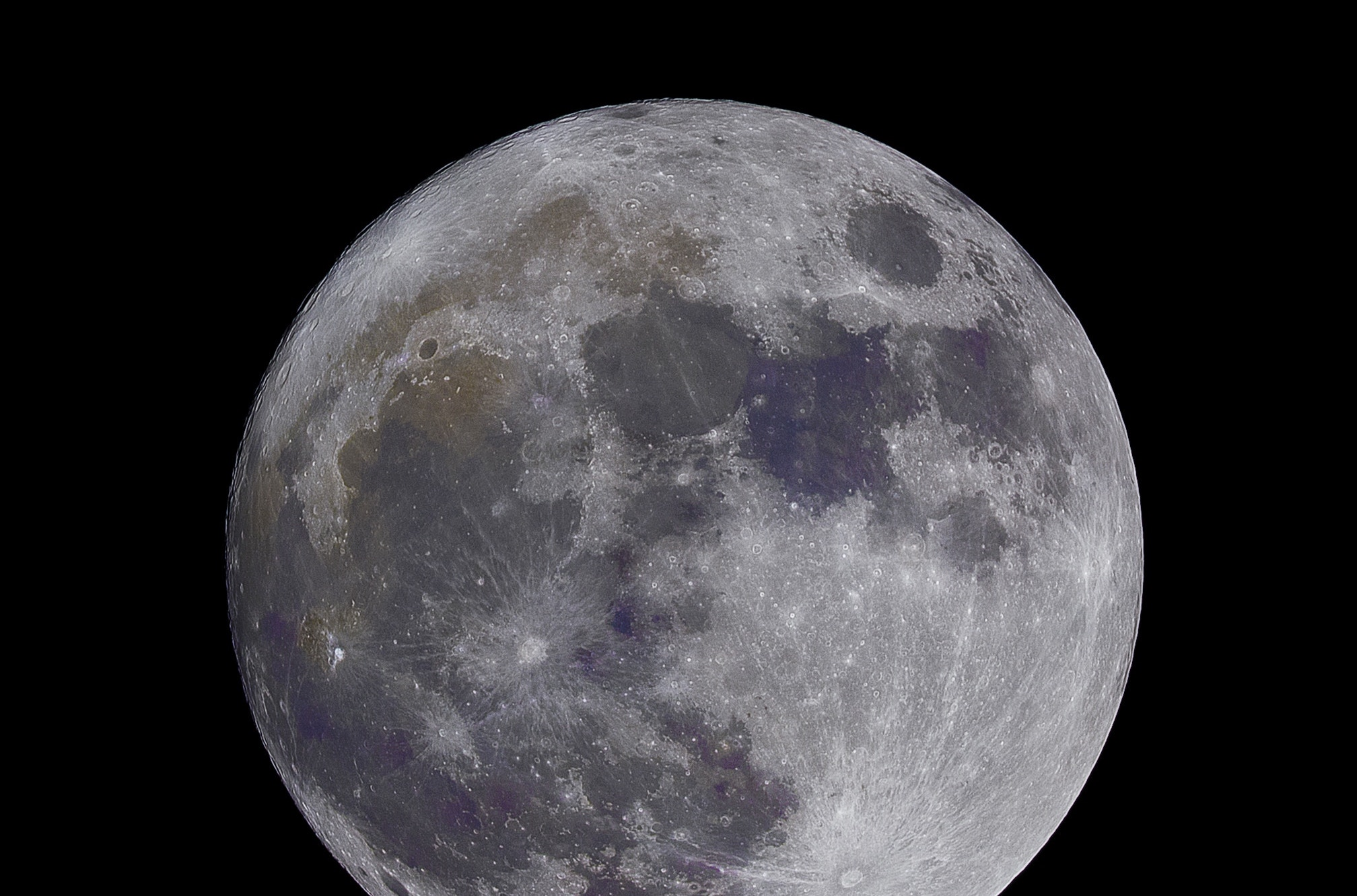 A photograph of the moon.